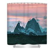 Mount Fitz Roy At Dusk Shower Curtain