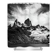Mount Fitz Roy Shower Curtain