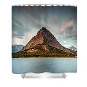 Mount Grinnell In Glacier Np Shower Curtain
