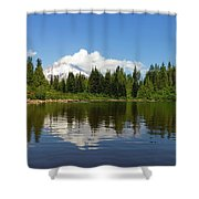 Mount Hood By Mirror Lake Shower Curtain