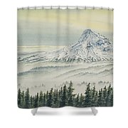 Mount Hood Evening Shower Curtain
