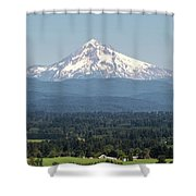 Mount Hood In The Summer Shower Curtain