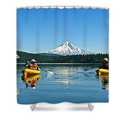 Mount Hood Kayakers Shower Curtain