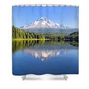 Mount Hood On A Sunny Day Shower Curtain