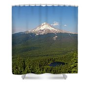 Mount Hood Over Mirror Lake Shower Curtain