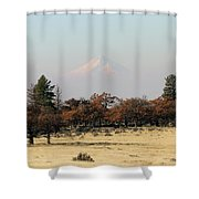 Mount Hood Over The Flats Shower Curtain