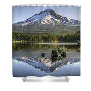 Mount Hood Reflection On Trillium Lake Shower Curtain