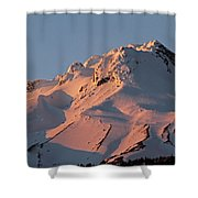 Mount Hood Sunset Glow Shower Curtain