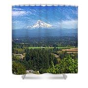 Mount Hood View From Backyard Deck Shower Curtain