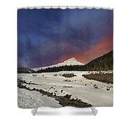 Mount Hood Winter Wonderland Shower Curtain