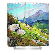 Mount Hoverla Shower Curtain