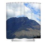 Mount Imbabura And Cloudy Sky Shower Curtain