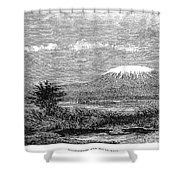 Mount Kilimanjaro, 1884 Shower Curtain