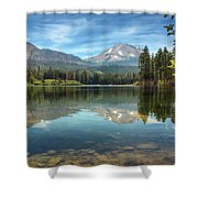 Mount Lassen From Manzanita Lake Shower Curtain