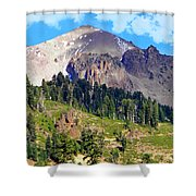 Mount Lassen Volcano Shower Curtain