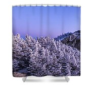 Mount Liberty Blue Hour Panorama Shower Curtain