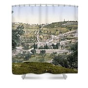 Mount Of Olives, C1900 Shower Curtain