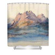 Mount Pilatus From Lake Lucerne, Switzerland Shower Curtain