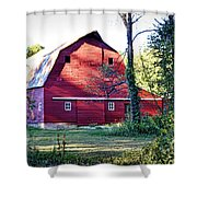 Mount Pleasant Road Barn Shower Curtain
