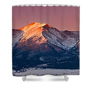 Mount Princeton Moonset At Sunrise Shower Curtain