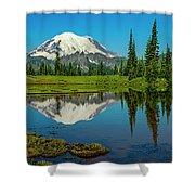 Majestic Reflection - Mount Rainier - 2 Shower Curtain