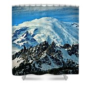 Early Snow - Mount Rainier  Shower Curtain