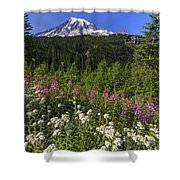 Mount Rainier Shower Curtain