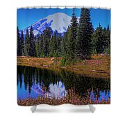 Mount Rainier And Tipsoo Lake Shower Curtain