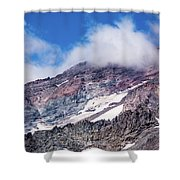 Mount Rainier Closeup Shower Curtain
