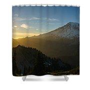 Mount Rainier Dusk Fallen Shower Curtain