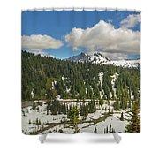 Mount Rainier National Park Tatoosh Range Shower Curtain