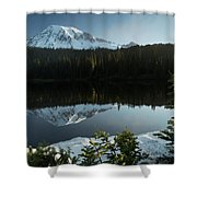 Mount Rainier Reflection Lake W/ Tree Shower Curtain