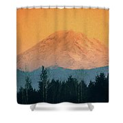 Mount Rainier, Sunset Shower Curtain