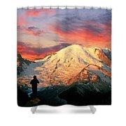 July In Washington, Mount Rainier National Park Shower Curtain