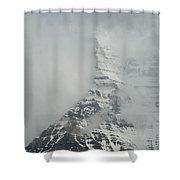 Mount Robson In The Clouds Shower Curtain