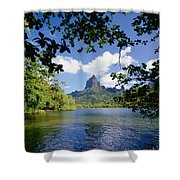 Mount Rotui From Across Opunohu Bay Shower Curtain