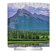 Mount Rundle Shower Curtain