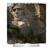 Mount Rushmoore Detail - Abraham Lincoln  Shower Curtain