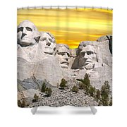 Mount Rushmore 11 Digital Art Shower Curtain