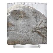 Mount Rushmore George Washington Shower Curtain