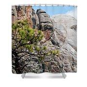 Mount Rushmore George Washington Landscape Shower Curtain