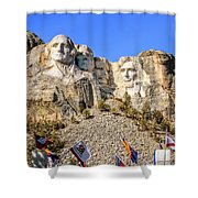 Mount Rushmore Grand View Terrace Shower Curtain