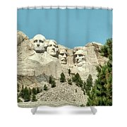 Mount Rushmore Shower Curtain