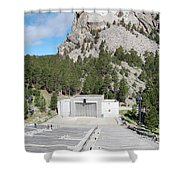 Mount Rushmore National Monument Amphitheater South Dakota Shower Curtain