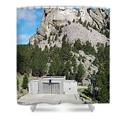 Mount Rushmore National Monument Overlooking Amphitheater South Dakota Shower Curtain