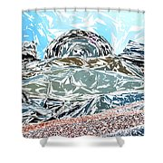 Mount Saint Auto Crush Shower Curtain