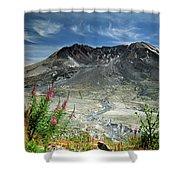 Mount Saint Helens Caldera Shower Curtain
