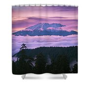 Mount Saint Helens Sunset Shower Curtain