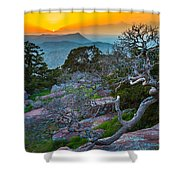 Mount Scott Sunset Shower Curtain