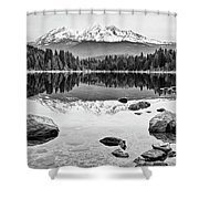 Mount Shasta From Lake Siskiyou In California Shower Curtain